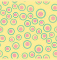 pink and yellow abstract circle geometric pattern vector image vector image
