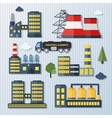 Plants and factories vector image vector image