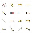 realistic forceps spade handle hit vector image vector image