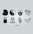 relax and spa set collection vector image vector image