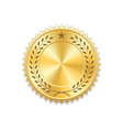Seal award gold icon Blank medal vector image