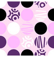 seamless pattern of circles for web design vector image vector image