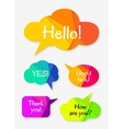 set abstract talk bubbles vector image vector image