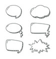 set chat bubbles hand draw vector image vector image