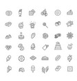 set line icons in flat design vector image vector image