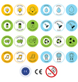 Set of toy package icons and design elements vector image vector image