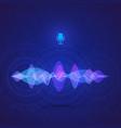 sound equalizer digital vote interface vector image vector image