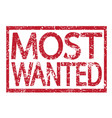 stamp text most wanted vector image