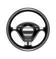 steering wheel isolated on white vector image vector image