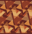 textured geometric triangles seamless pattern vector image vector image