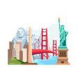 travel and landmark america vector image