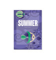 tropical poster summer days trendy seasonal vector image vector image