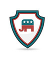 usa shield republican symbol image vector image