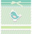 Vintage doodle bird for frame wallpaper vector | Price: 1 Credit (USD $1)
