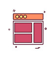 web layouts icon design vector image