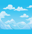 winter scene with mountains landscape blue sky vector image vector image