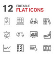 12 report icons vector image vector image