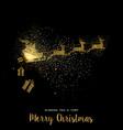 christmas gold glitter santa claus holiday card