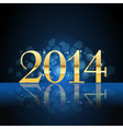 2014 year card gold vector image