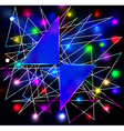 abstract background with two triangles for the tex vector image vector image