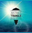 abstract blue sunset with triangle field vector image vector image
