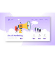 advertising landing page for digital marketing vector image