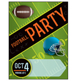 American Football Party Flyer vector image vector image