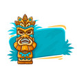 banner with tiki ethnic vector image vector image
