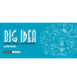 Big Idea concept with Doodle design style Finding vector image vector image