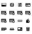 black credit card icon set vector image vector image