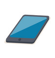 black tablet with blue reflection on screen vector image