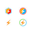 bolt logo collection vector image vector image