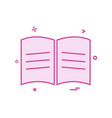 book school icon design vector image