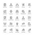 business management line icons set vector image vector image
