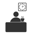Business office coffee break flat icon isolated on vector image