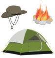 Camping gear vector image vector image