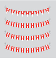 canadian bunting vector image vector image