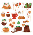 christmas food desserts holiday decoration vector image vector image