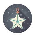 Christmas Star flat icon vector image vector image
