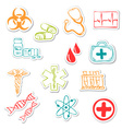 Colored medical stickers vector image