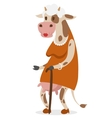 Cow old woman portrait on vector image vector image