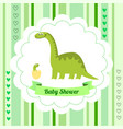 cute card template of a baby shower invitation vector image