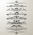 decorative page design element vector image vector image