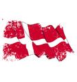 Denmark Flag Grunge vector image vector image