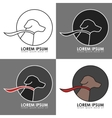 Dog Logo with Color Variations vector image vector image