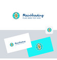 dollar globe logotype with business card template vector image