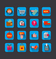 E-commerce shop icons