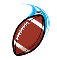 fast paced flying american football vector image