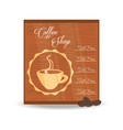 flat menu different types coffee drinks vector image