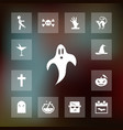 ghost icon halloween set simple sign vector image